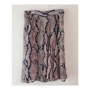 attention Snake Print Skirt Size S